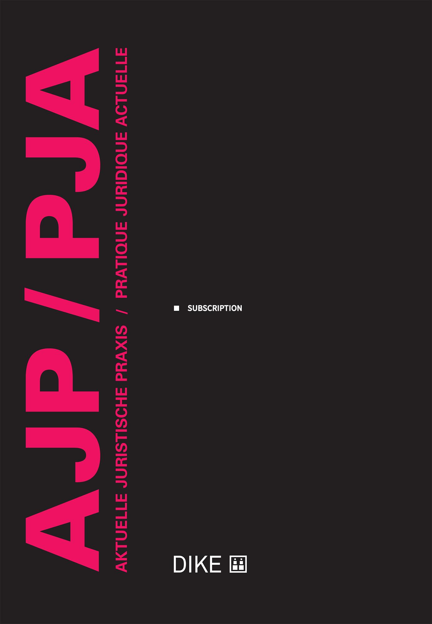 AJP/PJA - Print+Online Abonnement für Studierende