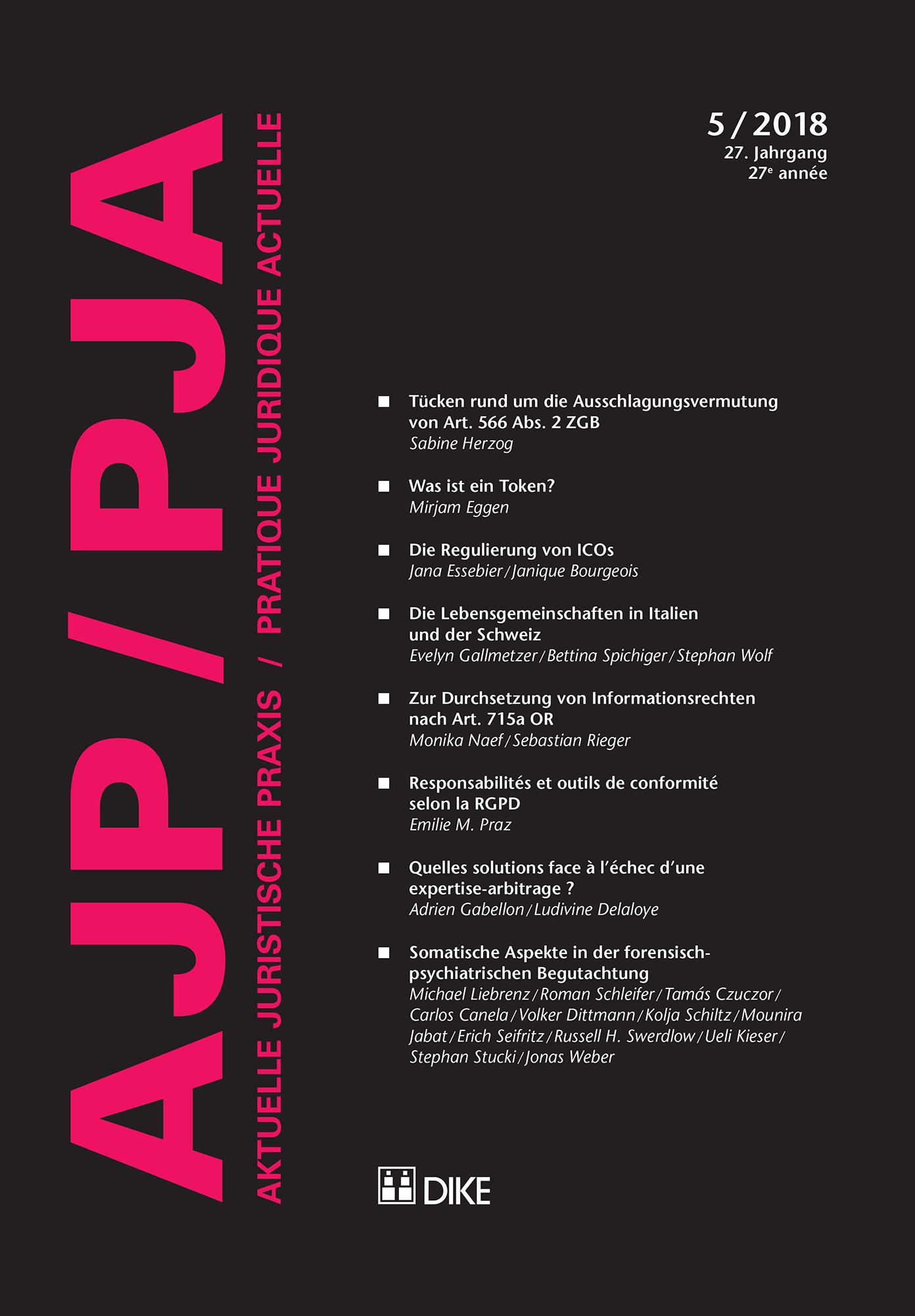 AJP/PJA 5/2018