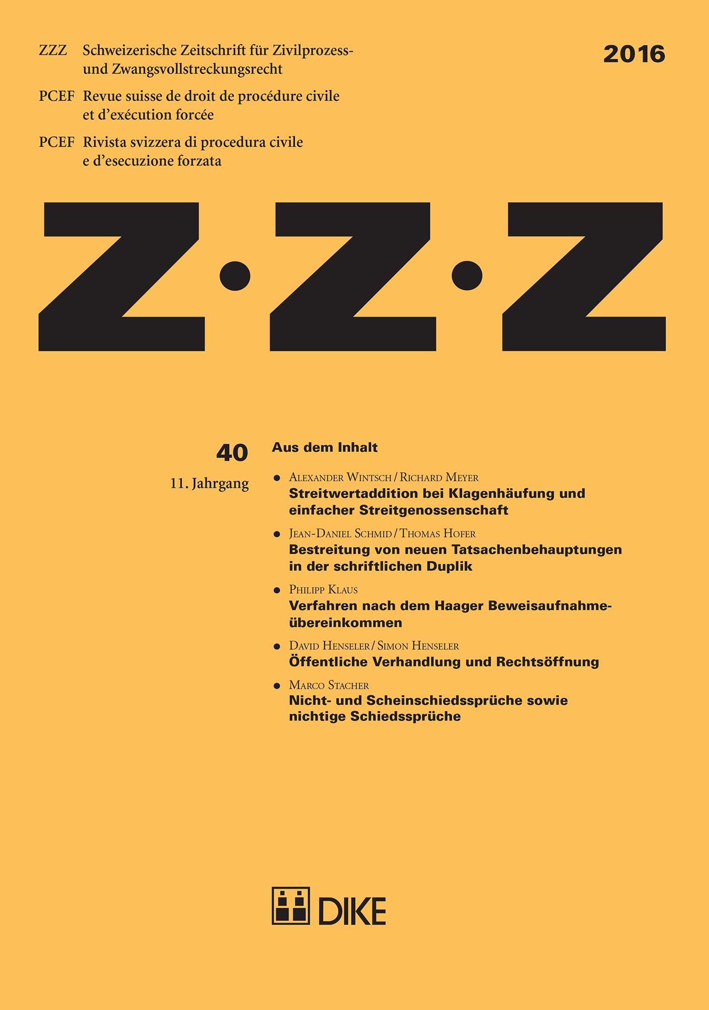 ZZZ 2016 Heft 40