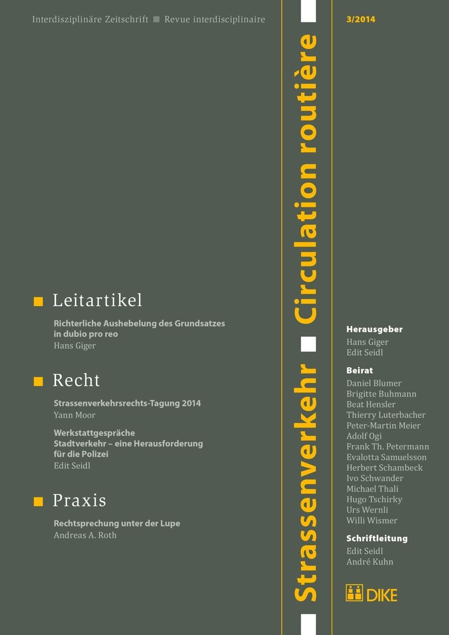 Strassenverkehr / Circulation routière 3/2014