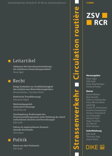 Strassenverkehr / Circulation routière 1/2020