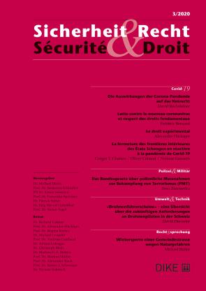 Sicherheit & Recht / Sécurité & Droit 3/2020