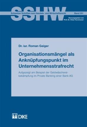 Organisationsmängel als Anknüpfungspunkt im Unternehmensstrafrecht