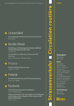 Strassenverkehr / Circulation routière 1/2012