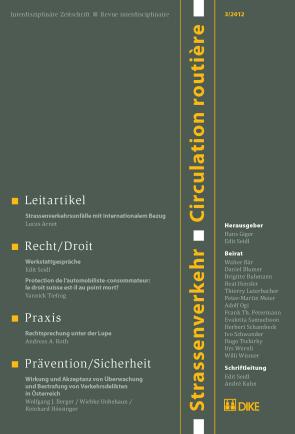 Strassenverkehr / Circulation routière 3/2012